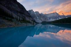 Lago moraine Imágenes de archivo libres de regalías