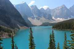 Lago moraine Foto de Stock Royalty Free