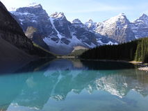 Lago moraine Fotografía de archivo