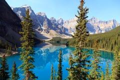 Lago moraine imagens de stock