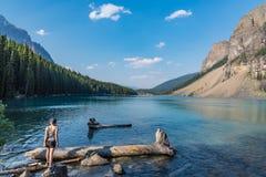 Lago moraine Fotografia Stock