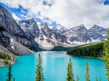 Lago moraine, Banff Fotografia Stock