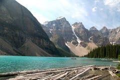 Lago moraine, Canada immagine stock