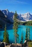 Lago moraine di buongiorno Fotografia Stock