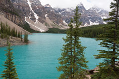 Lago moraine - imagem conservada em estoque Fotografia de Stock