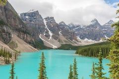 Lago moraine - imagem conservada em estoque Foto de Stock Royalty Free