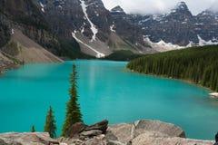 Lago moraine - imagem conservada em estoque Imagens de Stock Royalty Free