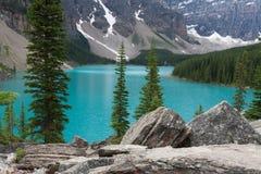 Lago moraine - imagem conservada em estoque Imagem de Stock Royalty Free