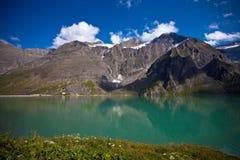 Lago moraine, Kaprun, Austria. Fotografie Stock Libere da Diritti