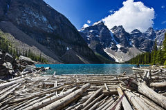 Lago moraine scenico Fotografia Stock