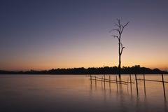 Lago Moring en Huay Tueng Tao Imagen de archivo libre de regalías