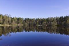 Lago morning cerca de St Petersburg en junio Foto de archivo