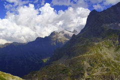 Lago Morskie Oko nelle montagne di Tatra Immagine Stock