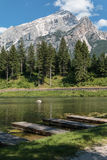 Lago Mosigo in San Vito di Cadore dentro le alpi italiane delle dolomia Immagine Stock Libera da Diritti