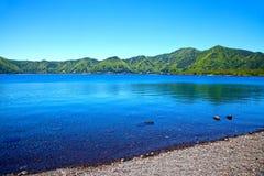 Lago Motosu nel Giappone Immagini Stock