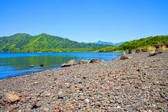 Lago Motosu nel Giappone Fotografia Stock