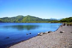 Lago Motosu nel Giappone Fotografie Stock
