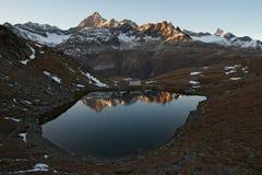 Lago mountain, alpi della pennina, Svizzera Fotografia Stock Libera da Diritti