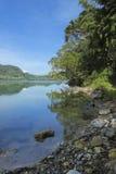 Lago mountain con el agua de manatial caliente Imagen de archivo