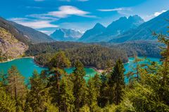 Lago mountain di Blindsee Fotografia Stock