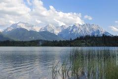 Lago mountain di Karwendel Fotografie Stock