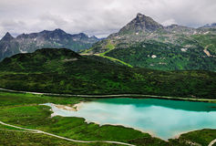 Lago mountain, Silvretta, el Tirol, Austria Fotos de archivo