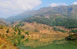 Lago mountain en la ciudad de Chau doc. fotos de archivo libres de regalías