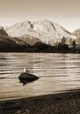 Lago mountain en la salida del sol imagen de archivo