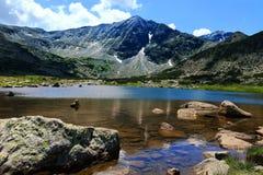 Lago mountain, Musala máximo Fotografía de archivo