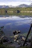 Lago mountain nelle alpi Fotografia Stock Libera da Diritti