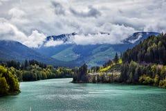 Lago mountain nelle alpi delle dolomia, Italia Fotografia Stock