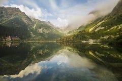 Lago mountain nelle alpi italiane Fotografia Stock