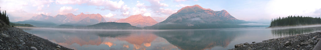 Lago mountain panorámico