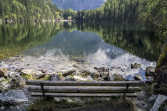 Lago mountain que reflete o mais forrest Imagem de Stock