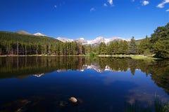 Lago mountain rocosa imagen de archivo