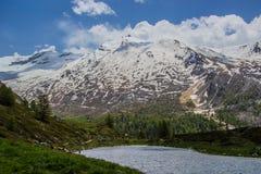 Lago mountain vicino al Cervino Fotografia Stock Libera da Diritti