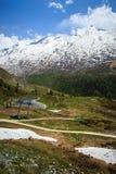 Lago mountain vicino al Cervino Fotografie Stock Libere da Diritti