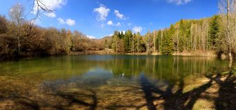 Lago mountain, vista geral de muitos tiros juntados junto Fotografia de Stock Royalty Free