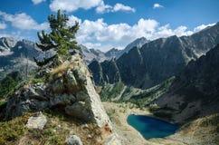 Lago mountain visto de un pico Fotografía de archivo libre de regalías