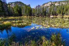 Lago mountains Imagen de archivo