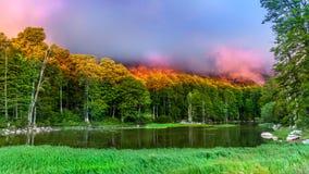 Lago Moutsalia Immagini Stock Libere da Diritti