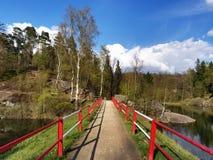 Lago Mseno, Jablonec nad Nisou, repubblica Ceca immagine stock libera da diritti