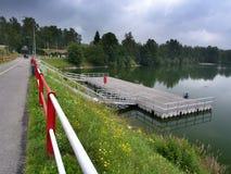 Lago Mseno, Jablonec nad Nisou, repubblica Ceca fotografie stock libere da diritti