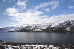 Lago Muick en invierno en Glen Muick en Aberdeenshire Imagen de archivo