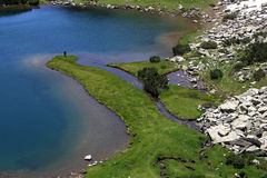 Lago Muratovo, montaña de Pirin, Fotografía de archivo