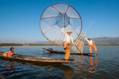 lago myanmar del inle Fotografie Stock Libere da Diritti