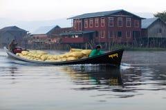 lago myanmar del inle Fotografia Stock Libera da Diritti
