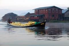 lago myanmar del inle Immagini Stock