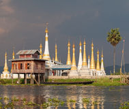 lago myanmar del inle Immagine Stock