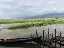 Lago Myanmar Inle (Birmania) Foto de archivo